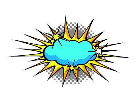 halftone background: Comic Retro Sunburst Halftone Background