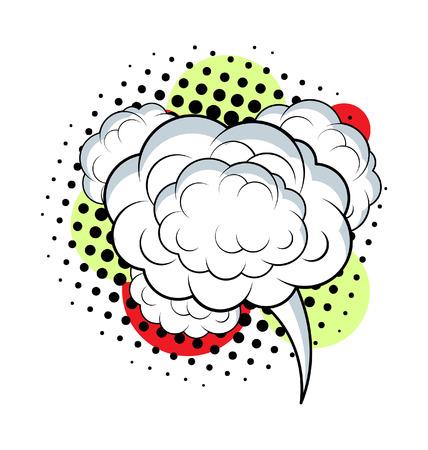 chat bubble: Cloud Chat Bubble Halftone Background