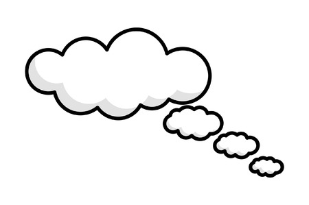 though: Though Clouds Vector Design Illustration