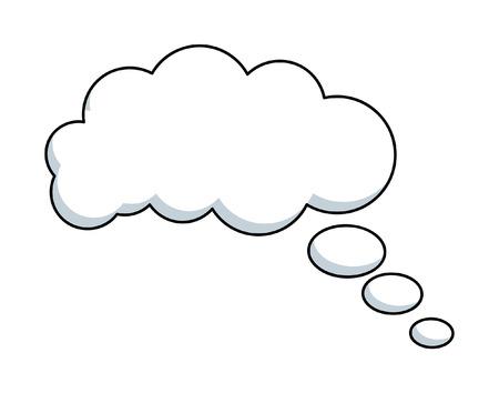 雲バブル ベクトル フレーム