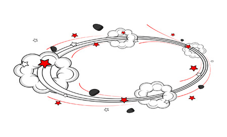 Abstract Cloud Burst Frame Background Vector
