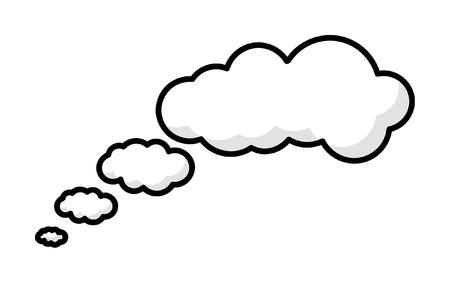 Comic Gedachte Wolken
