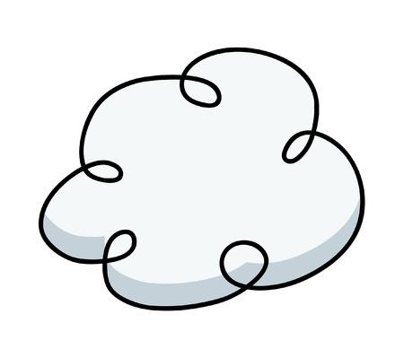 Comic Cloud Vector Frame Vector