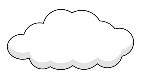 Retro Cloud Banner Vector