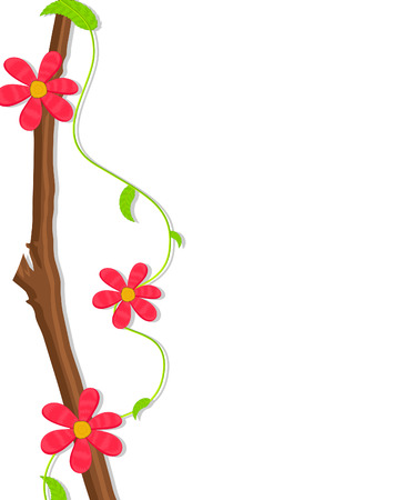 new year s day: Retro Flowers Branch Banner Design