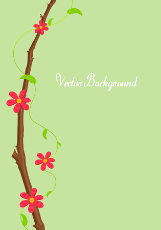 new year s day: Greeting Card Flowers Background Illustration