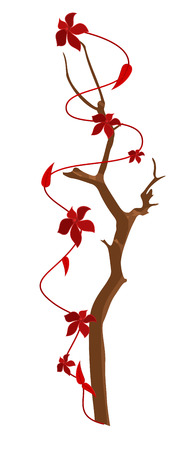 new year s day: Flowers Branch Vector Design Elements