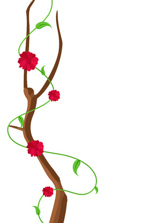 new year s day: Red Flowers Decorative Frame