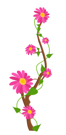 new year s day: Pink Daisies Branch