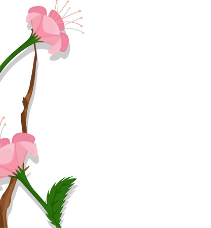 new year s day: Pink Daisies Vector Banner Design
