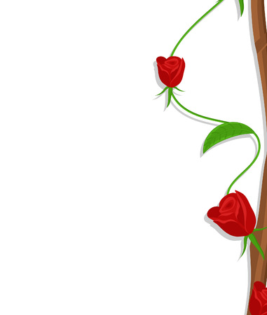 Valentine Red Roses Illustration