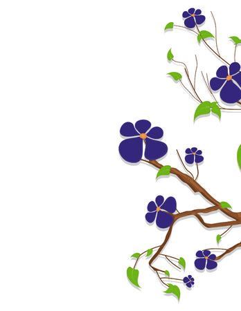 purple flowers: Purple Flowers Nature Branch