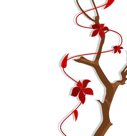 new year s day: Decorative Flowers Branch