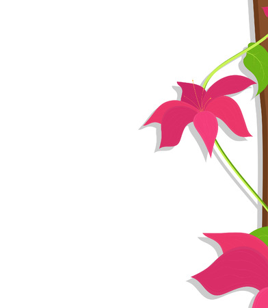 new year s day: Pink Flowers Vector Banner Design