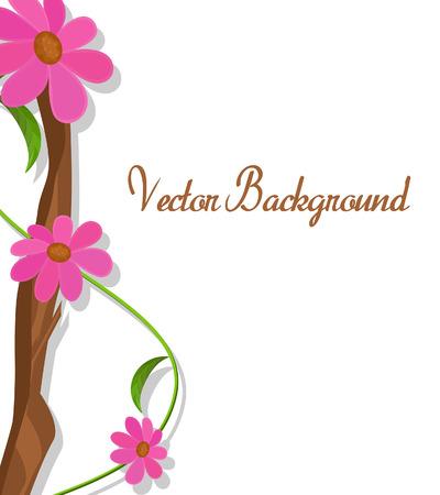 season s greeting: Nature Flowers Branch Greeting Illustration