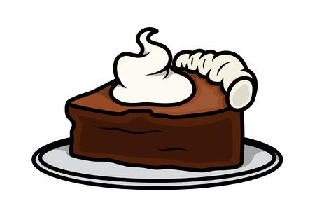 cake slice: Retro Cake Slice Vector Illustration