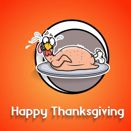 funny turkey: Funny Turkey Chicken Thanksgiving Day Greeting