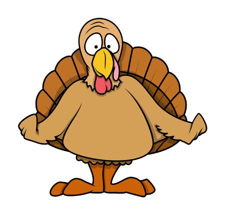 Shocked Cartoon Turkey Bird Illustration