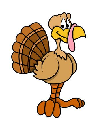 Cartoon Turkey Bird Illustration