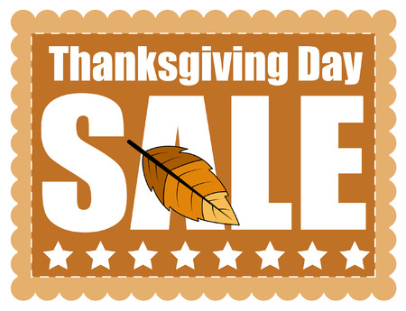 Thanksgiving Day Sale Graphic Banner Illustration