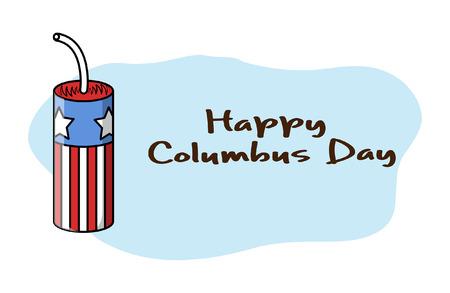 columbus: Happy Columbus Day Bomb Banner