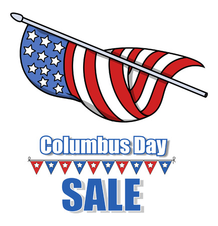 columbus: Columbus Day Sale Banner Graphic Illustration