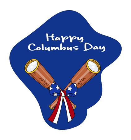 columbus: Retro binocular con arco de la cinta D�a de la Raza Antecedentes