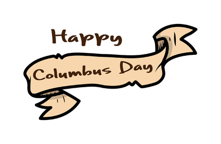 paper banner: Happy Columbus Day Paper Banner