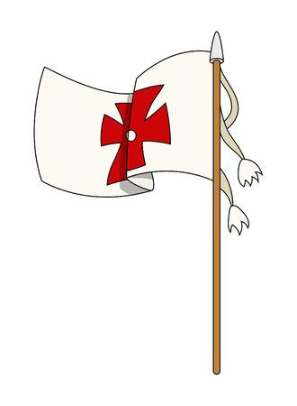 columbus: Columbus Day Flag Vector