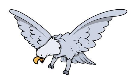cartoon eagle: Cartoon Eagle Bird Character