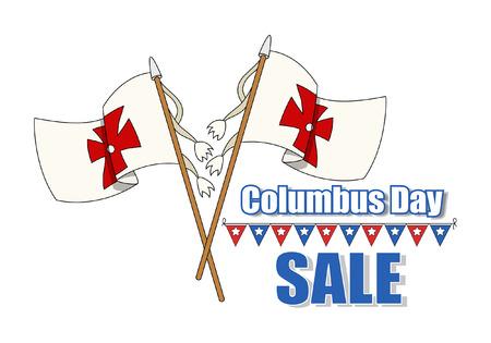 columbus: Columbus Day Flags Sale Banner