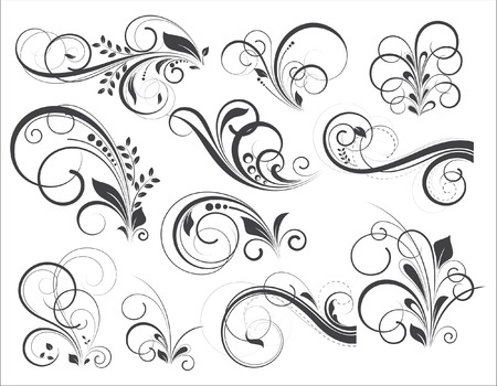 Retro Vector Flourish Designs Standard-Bild - 35683952