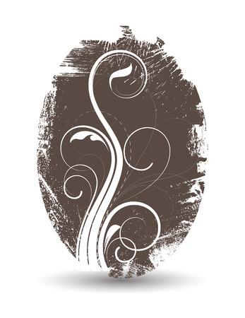 swirl: Grunge Swirl Banner Illustration
