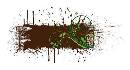 grunge banner: Flourish Grunge Banner