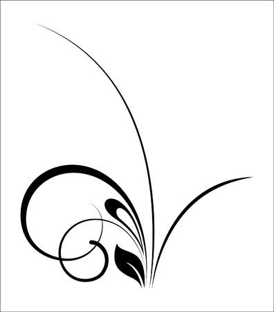 swirl: Black Swirl Shape