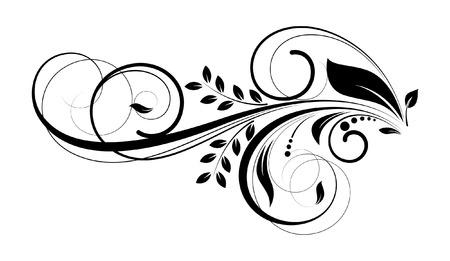 Swirl Floral Decorative Design Standard-Bild - 35684243
