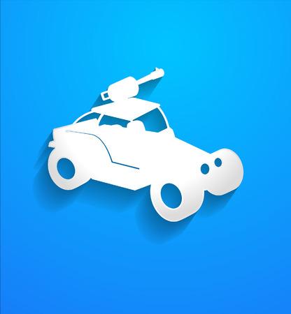 modern fighter: Modern Fighter Car Vector Shape Illustration