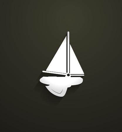 cramp: Submarine Sailing Boat Vector Shape Illustration