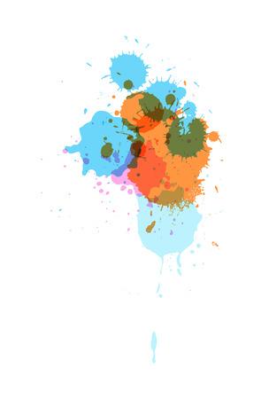 separator: Vintage Colored Splashes