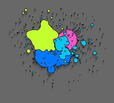 separator: Grunge Stains Vector Drops Illustration