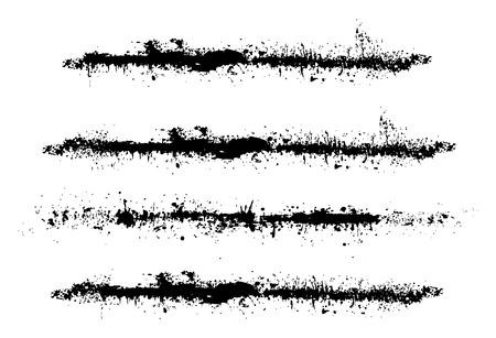 separator: Grunge Brush Strokes Illustration