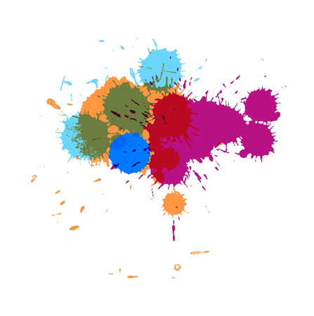separator: Colorful Paint Drops Illustration