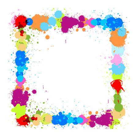 separator: Colored Drops Frame