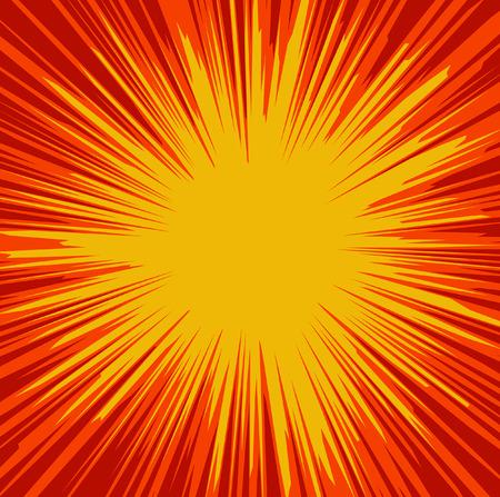 Abstract Vector Sunburst Background Illustration
