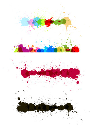 separator: Grunge Colored Drops Strokes Elements
