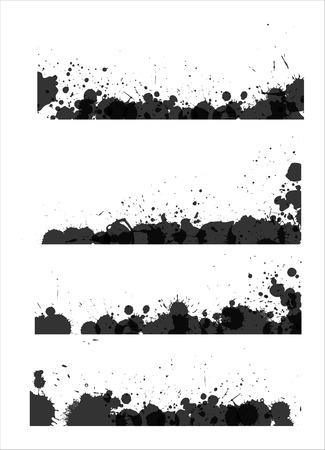 s�parateurs: Retro grunge texture s�parateurs