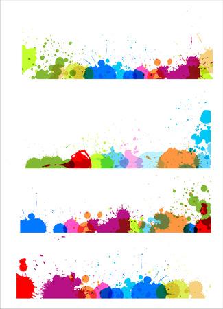 separators: Colorful Splashes Separators Designs
