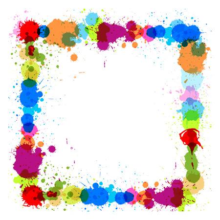 rozpraszać: Kolorowe Punktowy Rama