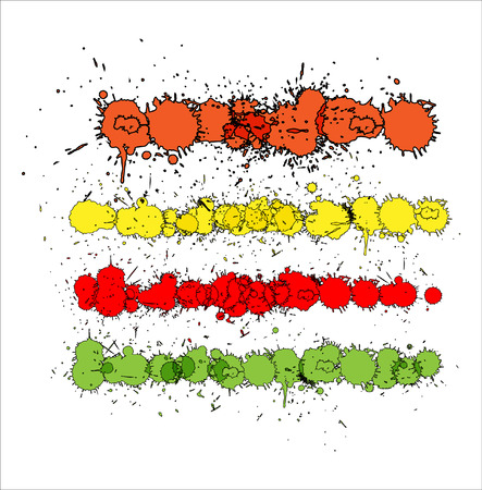 scatters: Dirty Paint Scatters Vector Illustration