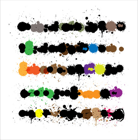 separator: Abstract Grunge Splashes Elements